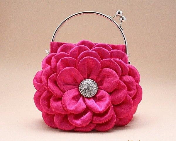 2017 New Style Lady S Handbag Women Charm Rhinestones Dinner Handbags Silk Shoulder Bag For Party Freeshipping