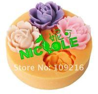 3D мини 1, 8 х 2, 2 см прекрасный маленький цветок силикон ручной работы фондант формы своими руками формы торт украшения
