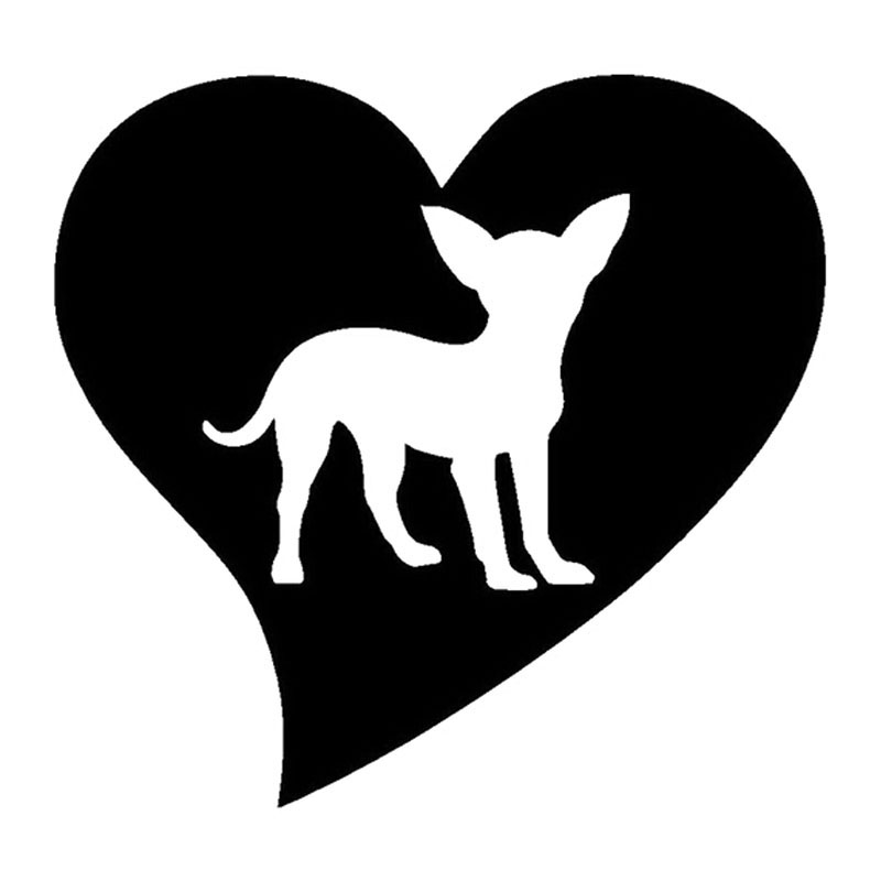 Download 14*14CM Lovely Pet Chihuahua Love Car Styling Decorative ...