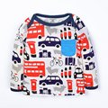 Autumn Baby Girl Boy Long Sleeve Cute Cartoon Printed T Shirt Toddler Tops Children's Clothing QF