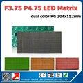 Factory supply 10pcs a lot led message text letter F3.75 led matrix panel RG dual color 304x152mm p4.75 dot matrix led 38x38mm