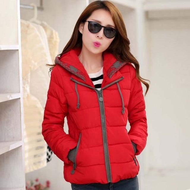 1PC Hooded Parka Winter Jacket Women Thick Cotton Padded Coats Casaco Feminino Jaqueta Feminina Abrigos Mujer Invierno Z235