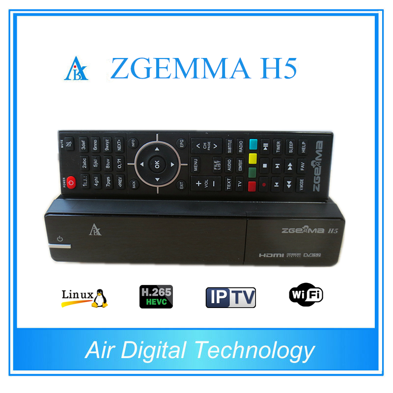 5pcs lot New HEVC H 265 Model Enigma 2 Linux ZGEMMA H5 with Dual Core DVB