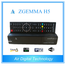 5pcs/lot  New HEVC H.265 Model  Enigma 2 Linux ZGEMMA H5 with Dual Core DVB-S2 + DVB-T2/C Digital Combo tv Receiver