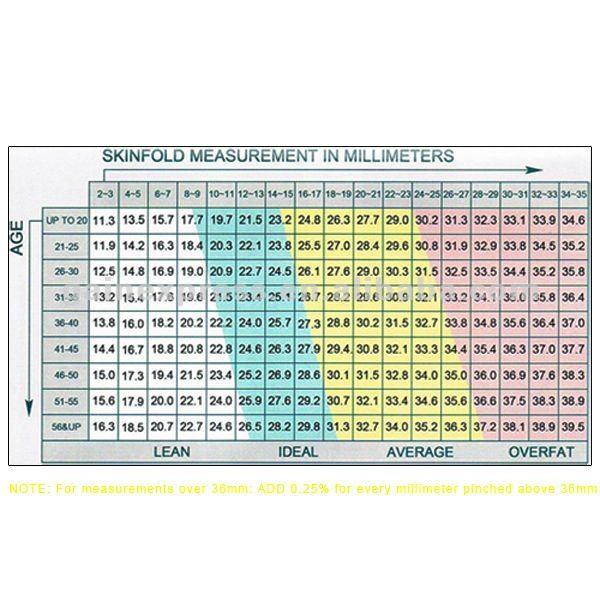 10 pieces x Digital LCD Body Fat Caliper Skin Fold Measurement ...