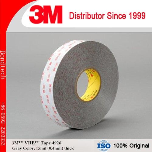 3M VHB TAPE 4926 Gray, 45mil, 1inX36YD, Pack of 1 3m vhb tape 4926 gray 45mil 1inx36yd pack of 1