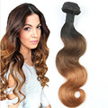 Full Shine Double Weft Three Tone Ombre Brazilian 1B 4/30 Body Wave Hair Virgin Hair Extensions Human Hair One Piece Extensions
