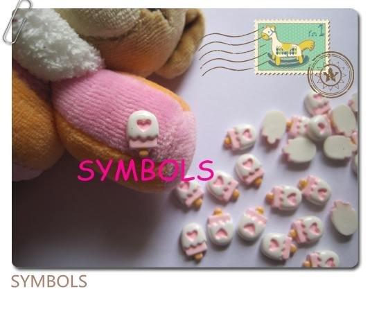 Rc-95-2,,, 200 шт./пакет, Розовый леденец, украшение для ногтей, украшение для мобильного