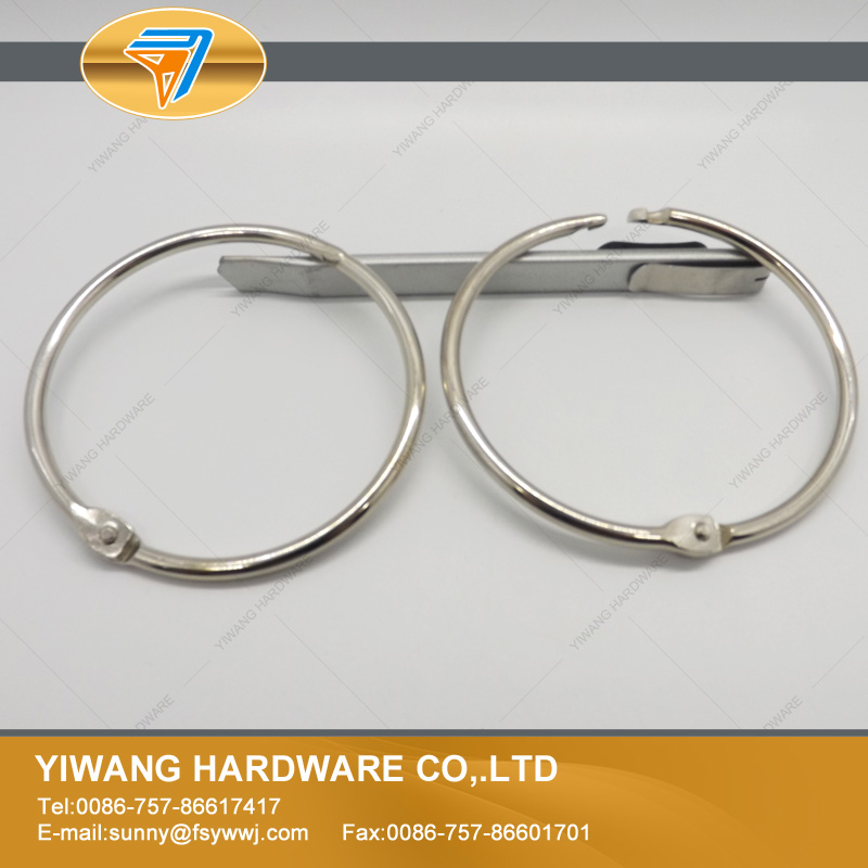 Various Hot Selling Wholesale Promotional Metal Nickel Plated Book Binder Ring  stationery ring China cheap good qualtiy