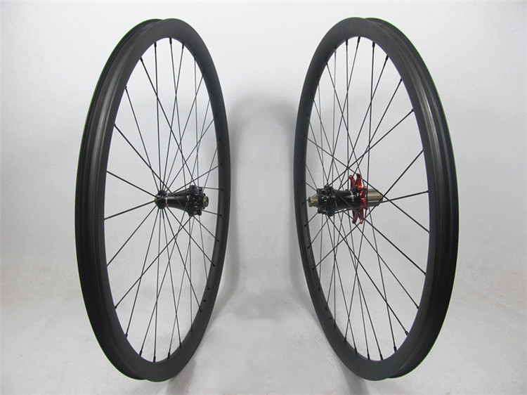 Only 1316g !! Extralite disc hubs with Sapim aero spoke, 29er Farsports MTB wheels 30mm with 28H front 32H rear , no outer holes mountain bike four perlin disc hubs 32 holes high quality lightweight flexible rotation bicycle hubs bzh002