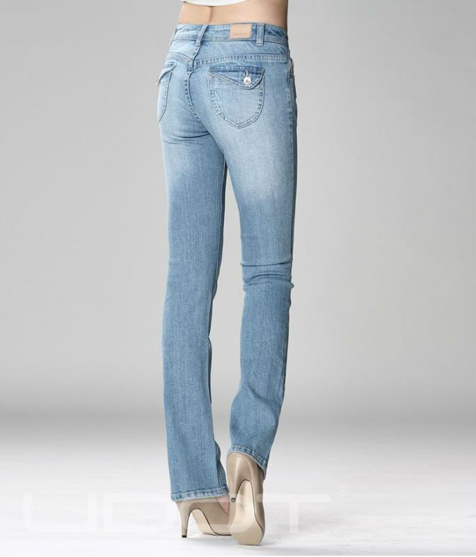 ... women s blue straight Jeans lana with patch pocket and washed b60ae419cf