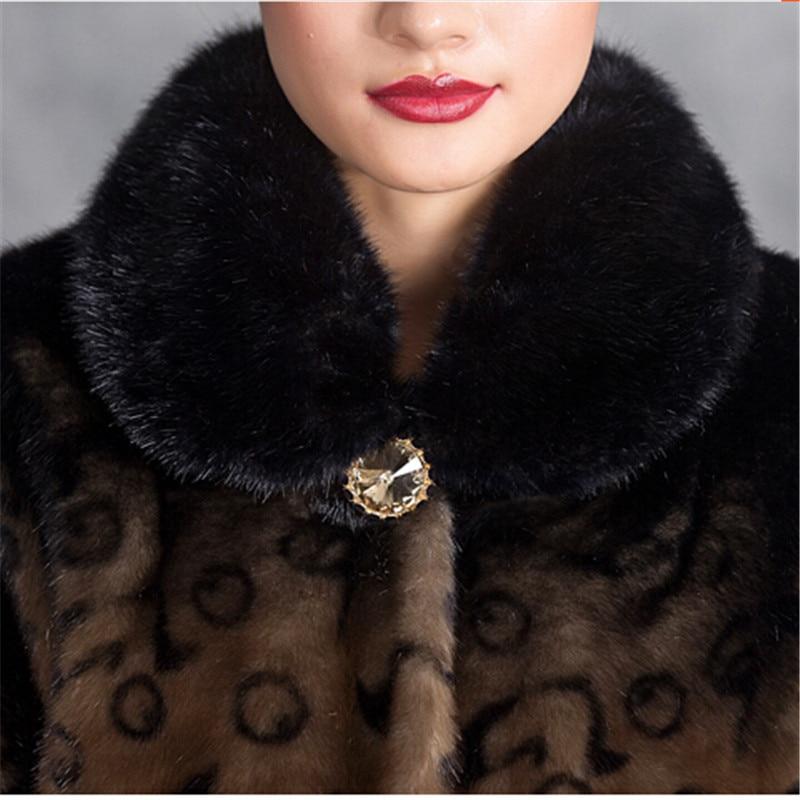 Fourrure D'hiver Tops Wine Qualité De Lourd Imité Cheveux Grande Vison Parka Color Femelle Haute Mode Bn1652 coffee Red Dernière Manteau Chaud Taille Col 5zYwnqCZY