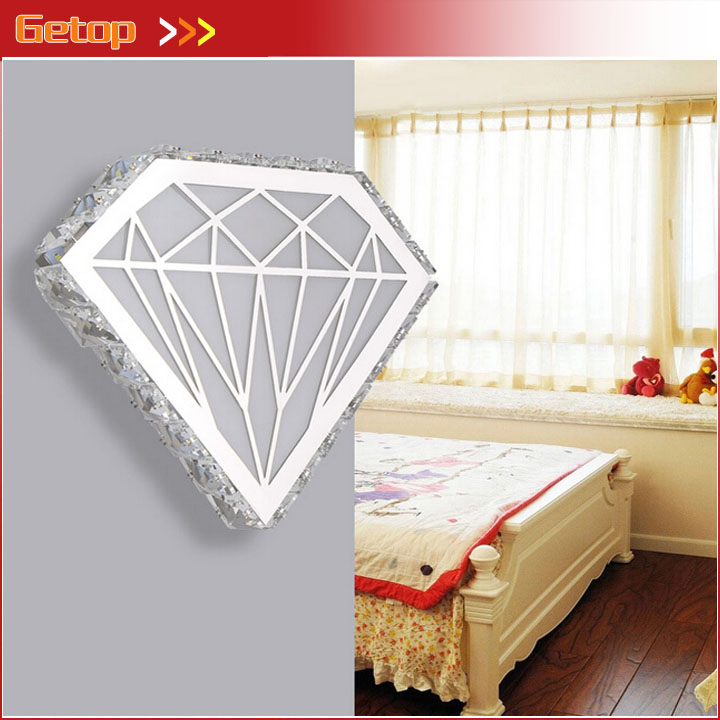 ZX Modern Diamond Shape Crystal Wall Lamp Personality Acryl Stainless Steel LED Light Bedside Hotel Bedroom Corridor Parlor Lamp modern lamp trophy wall lamp wall lamp bed lighting bedside wall lamp