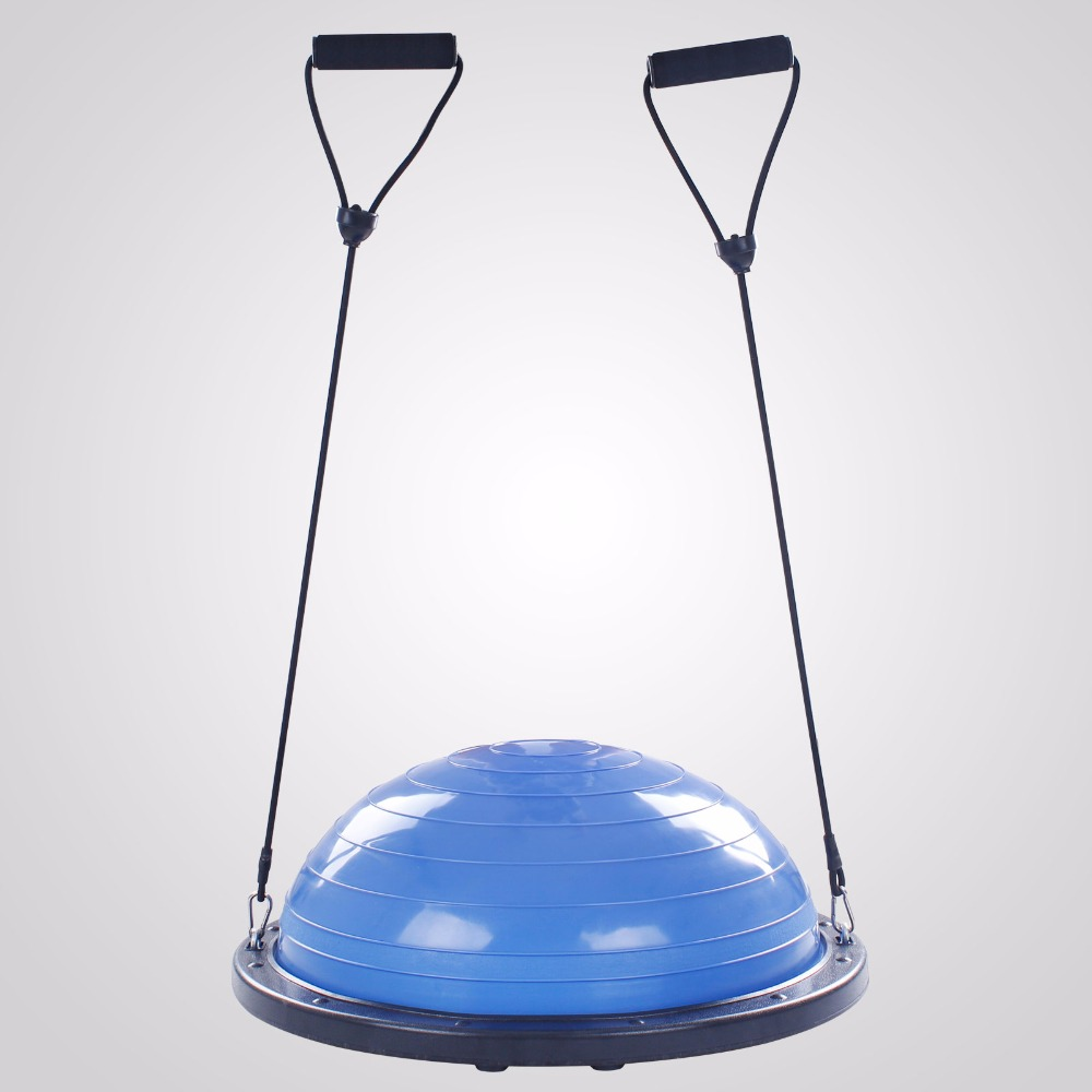 Bosu Ball Balance Trainer Yoga Fitness Strength Exercise With Pump