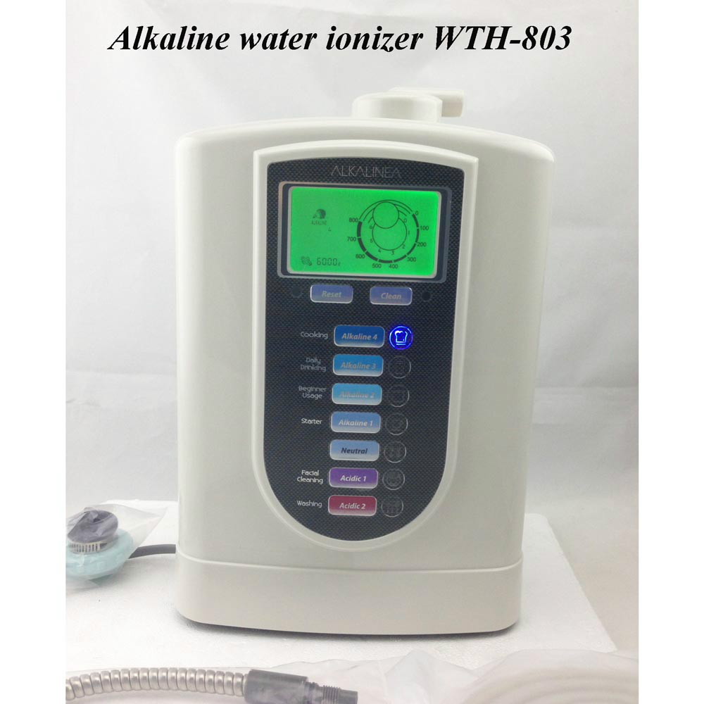 free shipping 3 titanium plates alkalie water ionizer with top design and manufacture WT ...