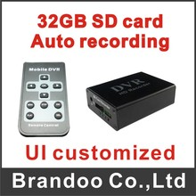 1 channel mini CCTV DVR,support 1 cameras recording video, 64GB sd card, auto recording, ALARM I/O, BD-300