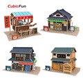 Дома DIY Кубических Fun 3D Головоломка Япония Характеристика Бумажные Модели, ассамблея Puzzle 3D Мир Стиль Модели Развивающие Игрушки Для Детей
