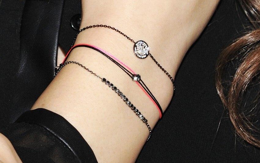 Бриллиант на красной нитке браслет