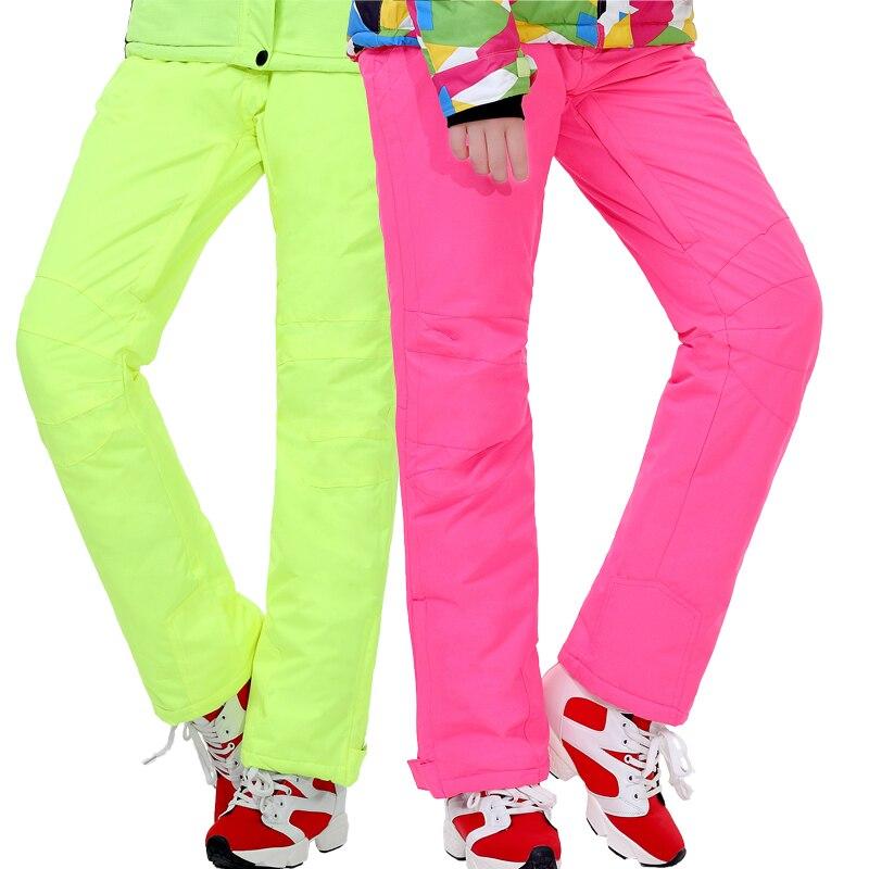 Acheter Livraison Gratuite Hiver Ski Pantalon Couple Coupe Vent Imperméable Thermique Bottes En Plein Air Placage Double Conseil de Ski Pantalons Hommes et Femmes de ski pants fiable fournisseurs