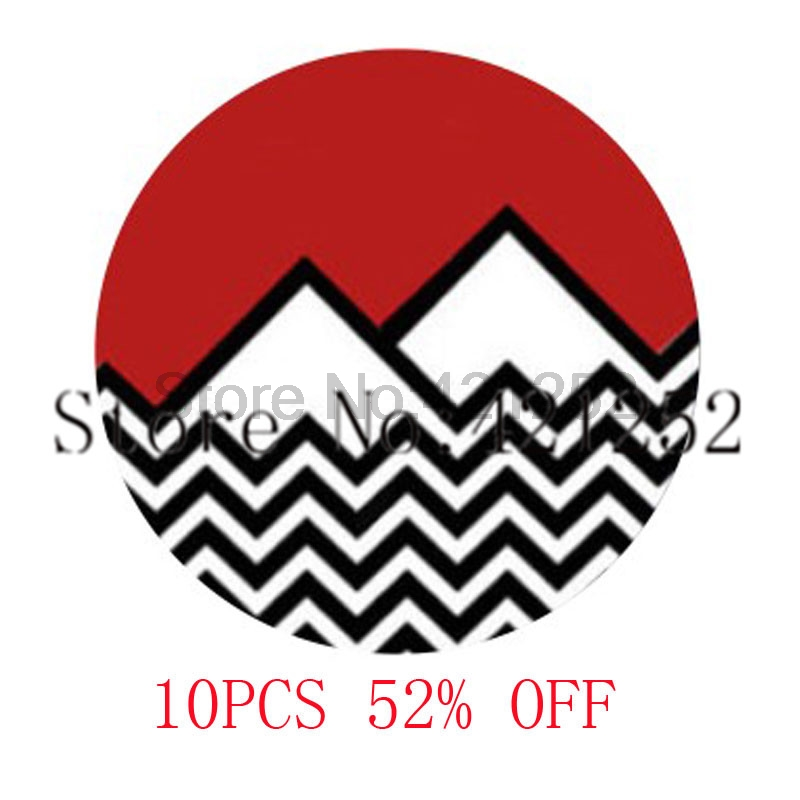 Twin Peaks Inspired Glass Photo Cabochon Necklace keyring bookmark cufflink earring