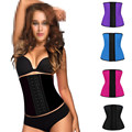 New 9 Steel Bone Waist Trainer Corset 100% Latex Corset Plus Size Sexy Women Latex Waist Cincher Slimming Shapewear Bodysuit