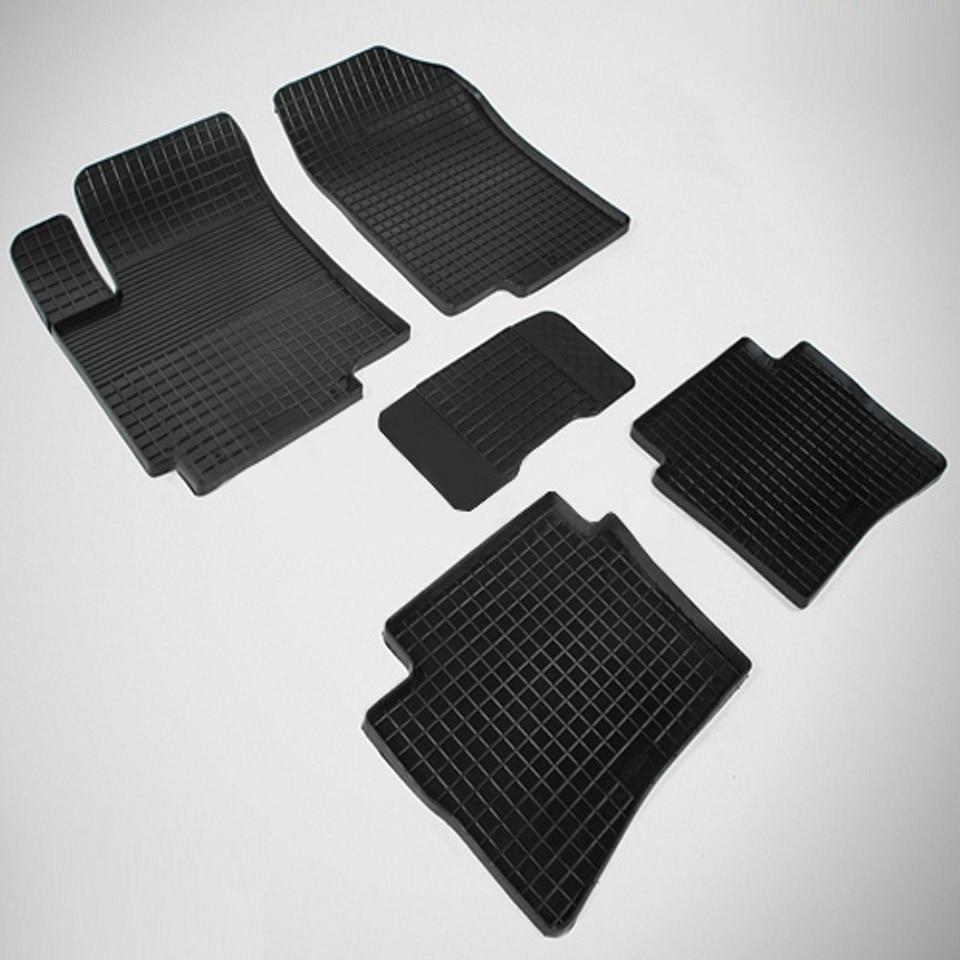 For Hyundai Solaris 2011-2016 rubber grid floor mats into saloon 5 pcs/set Seintex 83112 for mazda 6 2002 2008 rubber grid floor mats into saloon 4 pcs set seintex 00194