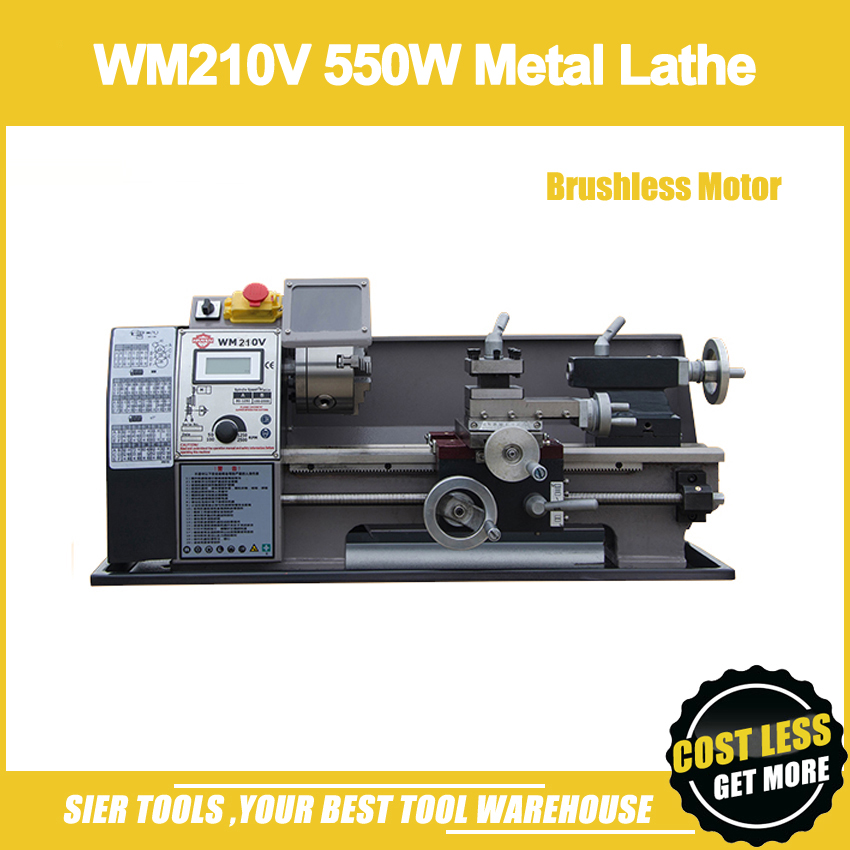 WM210V 550W Metal Lathe/Brushless Motor All Steel Gear Lathe Machine/Mini Lathe Machine