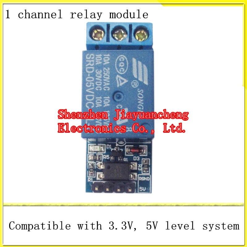 Livraison Gratuite 1 route module de relais Avec l'isolement de couplage optique entièrement compatible avec 3.3 V et 5 V signal relais contrôle