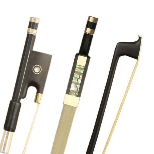 ▽1 unid nuevo carbono Fibra 4/4 Violines arco níquel piezas de ...