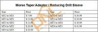 1 шт. mt6 к мт5 конус морзе адаптер / уменьшение дрель рукава