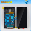 1 piece tested Replacement parts 5 inch screen for Sony for Xperia Z1 L39h lcd display with touch digitizer+frame free shipping