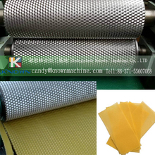 86*195mm Aluminum alloy manual beeswax foundation machine with cell size 5.4mm and 5.3mm