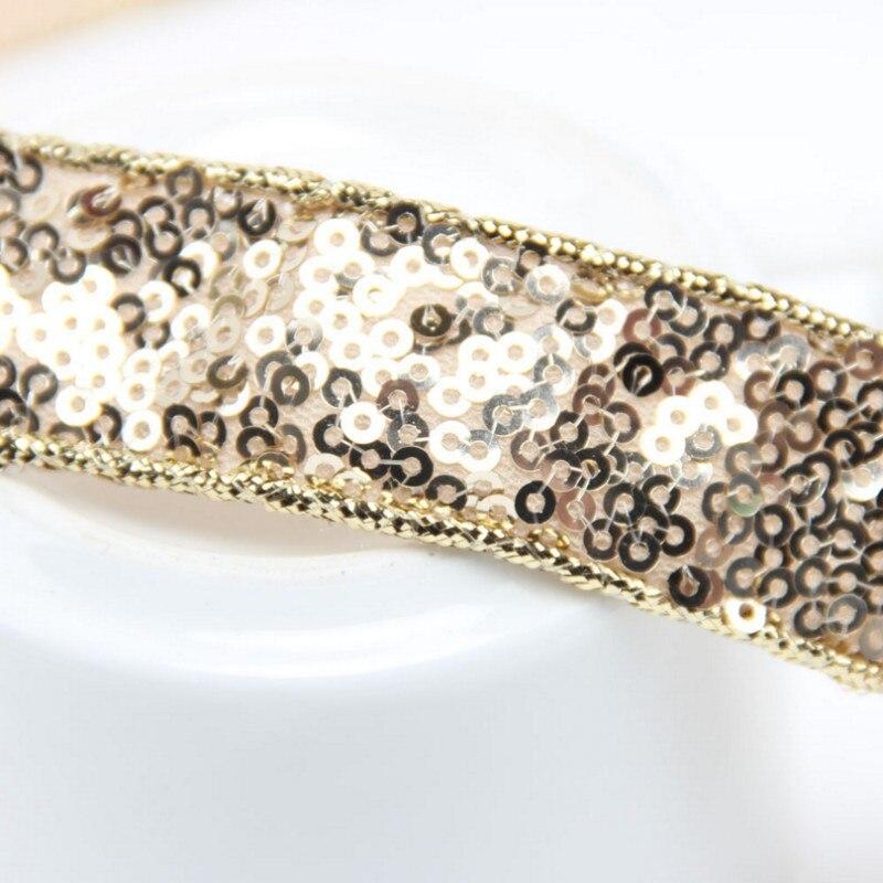 Diadema de lentejuelas moderno elástico banda de pelo rhinestone ...
