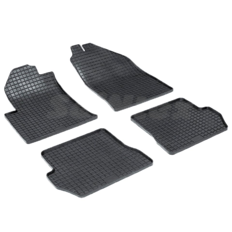 Rubber grid floor mats for Ford Fiesta 2001 2002 2004 2005 2006 2008 Seintex 00140 rubber floor mats for chevrolet niva 2002 2004 2006 2008 2009 seintex 84834