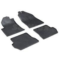 Rubber grid floor mats for Ford Fiesta 2001 2002 2004 2005 2006 2008 Seintex 00140