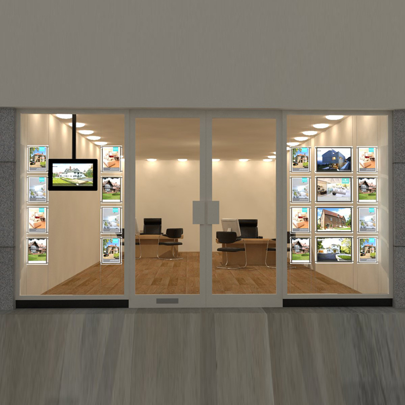 buy estate agent led window display a4