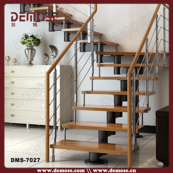 China Supplier Steel Steps For Cheap Indoor Prefabricated Stairs