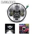 "Headlight 80W 7"" Projector Daymaker Led for jeep Wrangler Rubicon CT TJ JK FJ Miata 4x4 Off road Hi/Low Beam Led Headlamp"