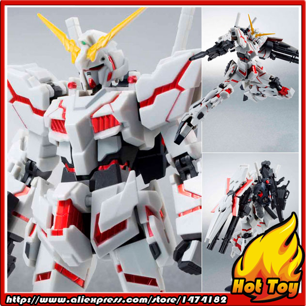 Original BANDAI Tamashii Nations Robot Spirits 159 Action Figure - Unicorn Gundam (Destroy Mode) Full Armor Compatible Edition bandai hguc 178 1 144 rx 0 full armor unicorn gundam destroy mode mobile suit assembly model kits