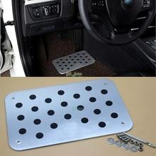 Car Auto Aluminum Floor Carpet Mat Pad Plate Pedal Foot Rest For Hyundai ix35 ix25 i30 Verna Accent Elantra Tucson with logo