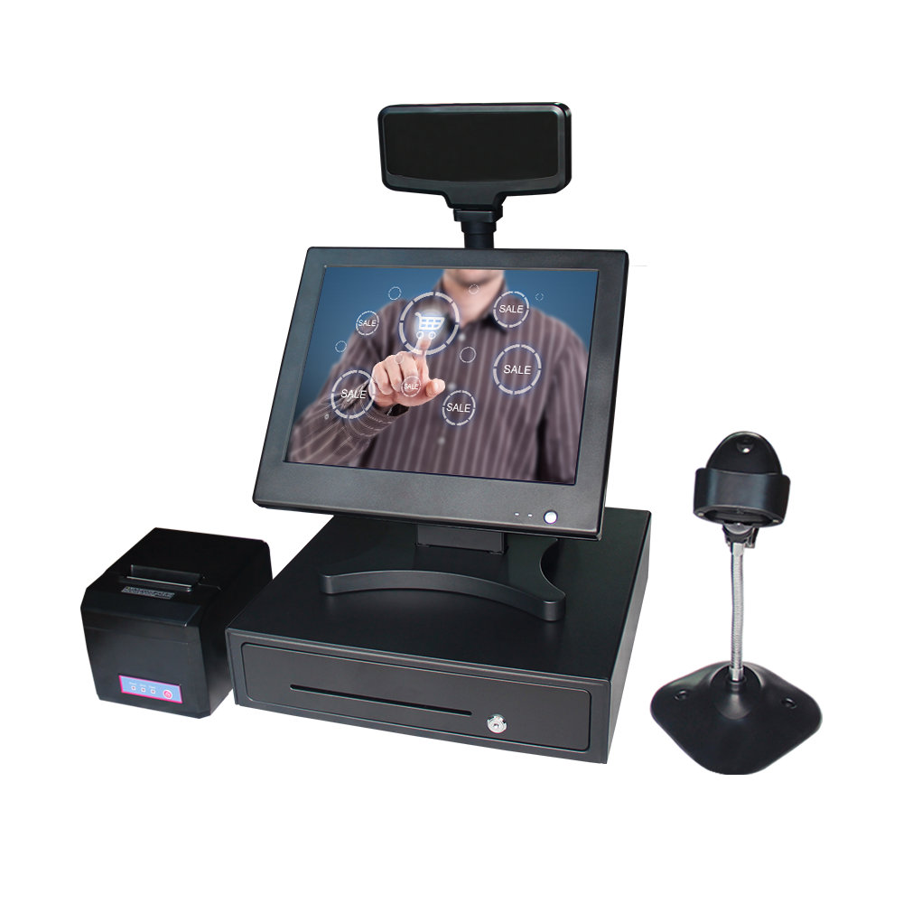 Factory directly sell pos computer system all in one pos terminal retail touch screen with all Peripherals