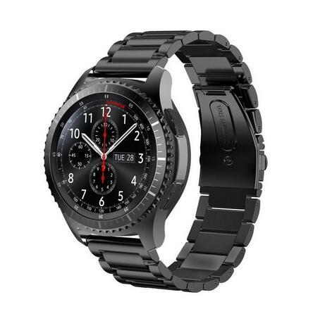 Prix pour Vitesse S3 Frontière/Classique Montre Bande, 22mm Solide En Acier Inoxydable Métal Remplacement Bracelet Sangle pour Samsung Gear S3