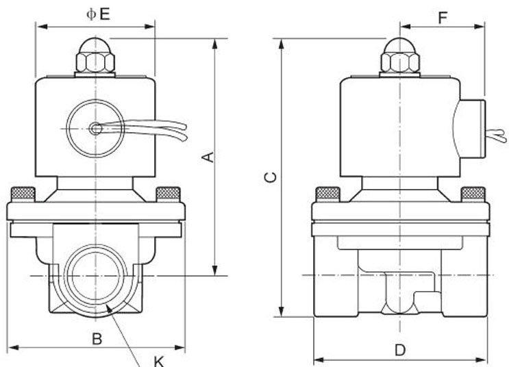 Высокое качество 2 шт. в лоте DC24V жидкости Управление 2 Way Латунь Электромагнитный Клапан g1-1/2''