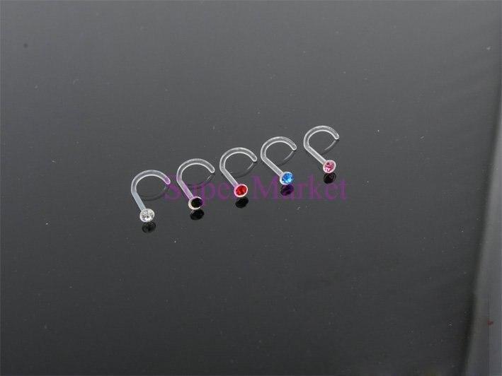 Кольца для бровей 316L хирургическая сталь разного размера разноцветный пирсинг для тела серьги гвоздики нос губы живот бар 200 шт/партия