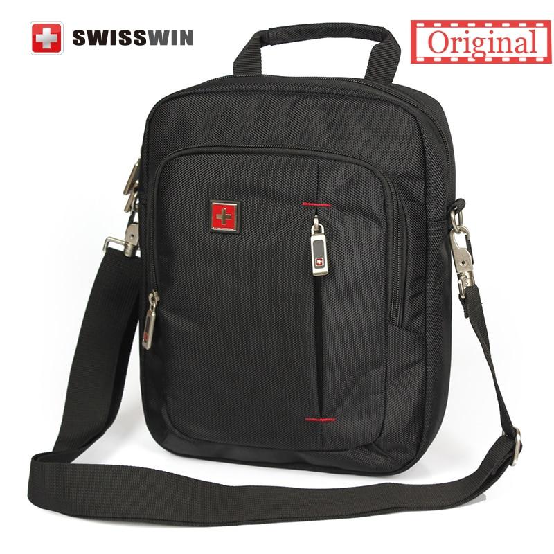 Swiss Brand Small Shoulder Bag for Men Daily Messenger Bag for Phones and 11 Tablets Unisex Vintage Crossbody Bag Satchels bag