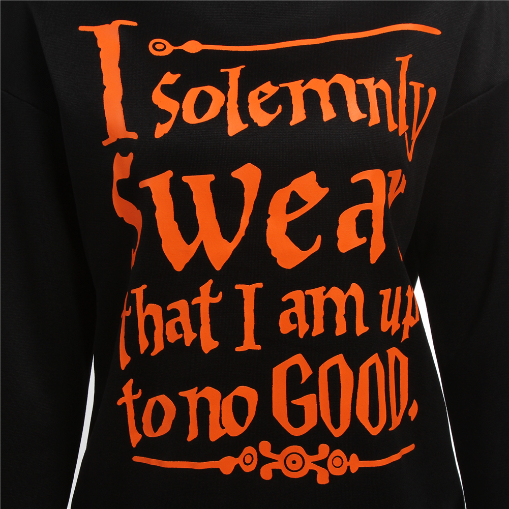 fancyqube spring tracksuit i solemnly swear that i am up to no good words print sweatshirt women harajuku black hoodies in hoodies sweatshirts from
