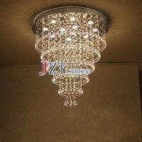 М Лучшая цена 2016 Новинка cristal лампы Хит продаж натуральная нержавеющая сталь k9 кристалл потолочные для гостиной