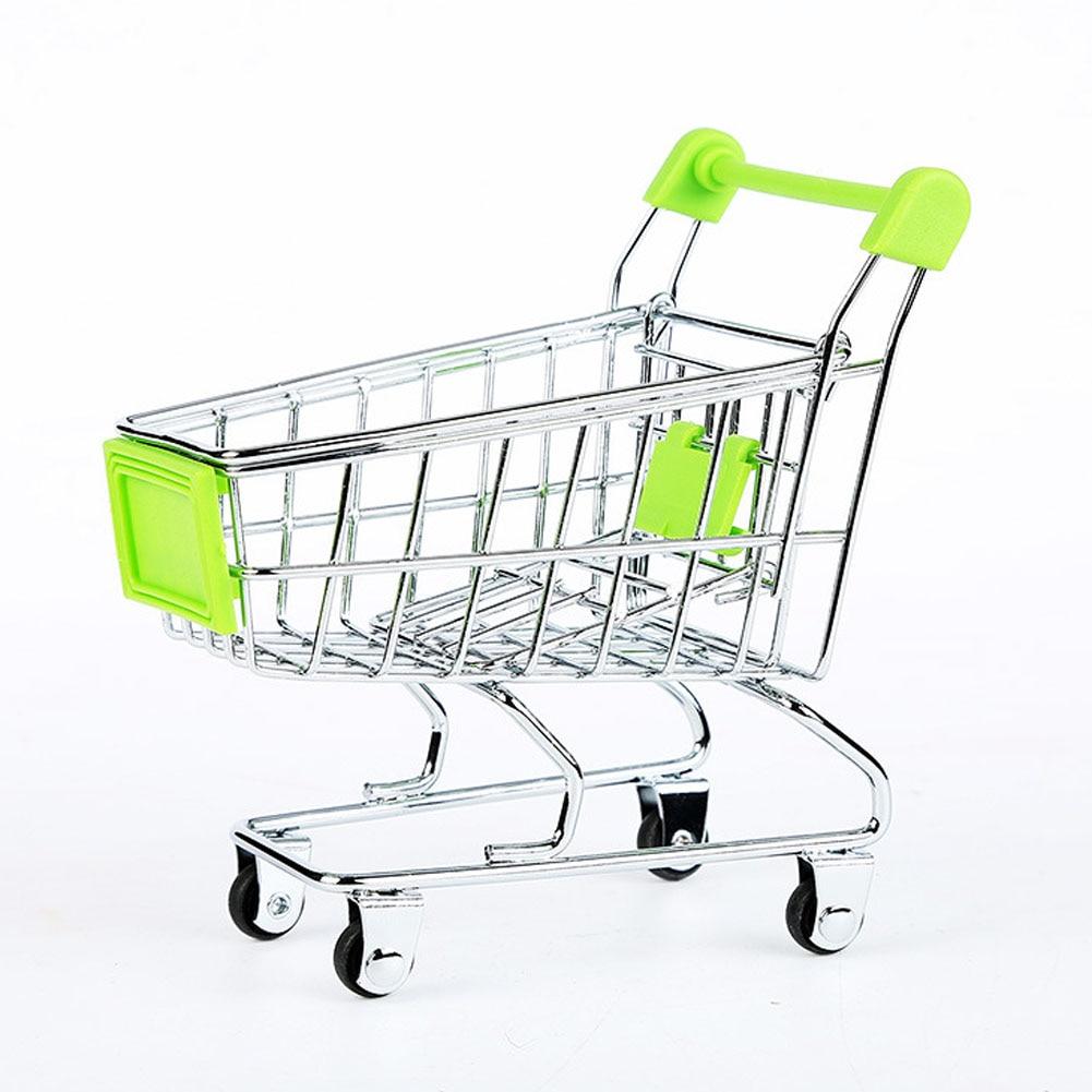 mini supermarket handcart shopping utility cart mode storage funny folding shopping cart with wheels
