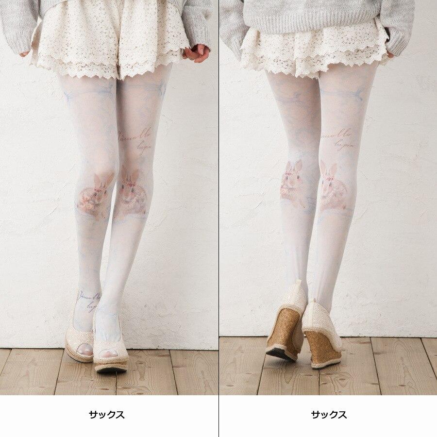Buy 2016 japanese lolita Print tights harajuku girls summer tattoo kawii female pantyhose
