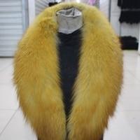 Banana Shape Winter Customize Brown Real Red Fox Fur Collar